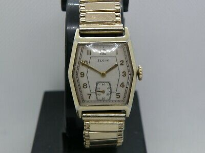 Serviced 1936 Elgin....handsome Art Deco Hexagonal  Case ..