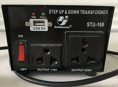 Goldsource STU500 500W Voltage Converter Output 110V Output 220V Black Plug In