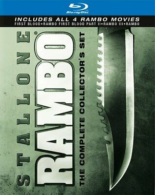 Rambo The Complete Collection Set 4 Movie (Blu-Ray) NEW Sealed, Free Shipping