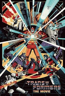 SDCC 2019 Exclusive Mondo Transformers: The Movie print by Cesar Moreno