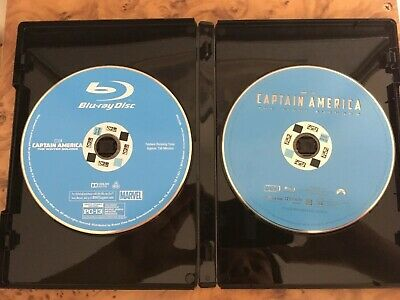 Captain America: The First Avenger & The Winter Soldier Blu-Ray Lot Excellent