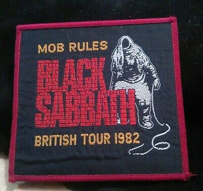 Rare Vintage Original BLACK SABBATH MOB RULES tour patch dio,tony iommi,lp,cd