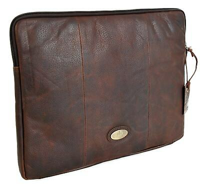 Rowallan Brown Leather Zip Around A4 Document Case 33-1266