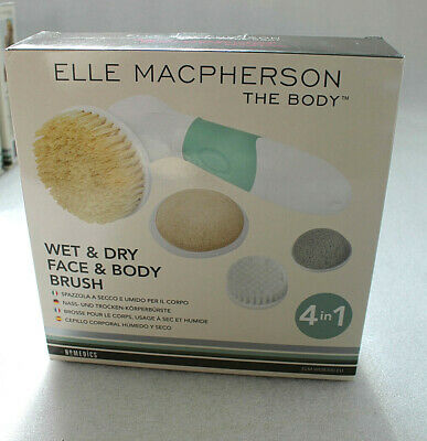 Homedics Elle Macpherson Wet and Dry Body Brush 4-in 1 Elm WDB300 New A