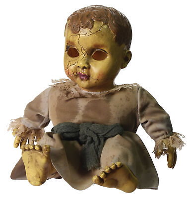 """Haunted Doll with Sound 15"""" Halloween Prop Decoration Horror Cracked Creepy"""