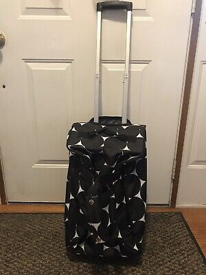 3-Thirty One Items Big Dot B&W,Weekender Bag,Wheel Up Roller Bag & Memry Pouches