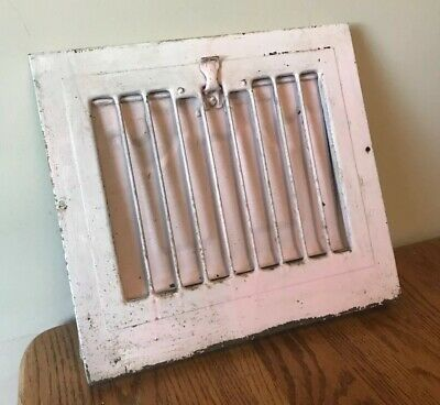 Vintage Victorian Pink Salvaged Wall Mount Register Vent  Dampener Damper