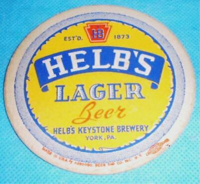 Helb's Lager Beer Coaster York Pa