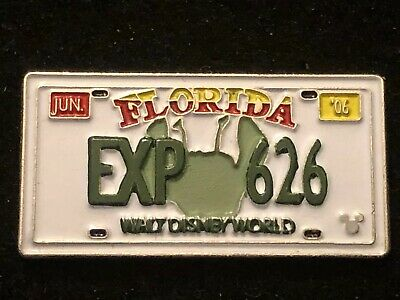 2006 DISNEY HIDDEN MICKEY LICENSE PLATE 10 Of 11 EXP 626 LILO AND STITCH PIN
