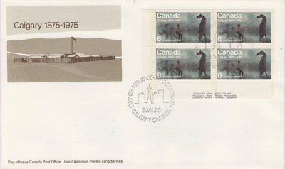 Canada #667 8¢ Calgary Centennial Ll Plate Block First Day Cover