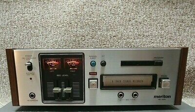 Vintage Meriton HD-830 8 Track Player Recorder Serviced & working with demo