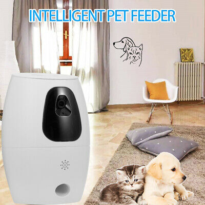 720P Dog Camera Treat Dispenser Pet Feeder Automatic WiFi PP Control Remote K4T9