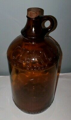Antique amber glass 1/2 gallon Clorox bottle  With Cap