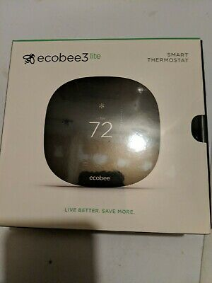 NEW ecobee 3 Lite Smart Wi-Fi Programmable Thermostat with Touchscreen - Black