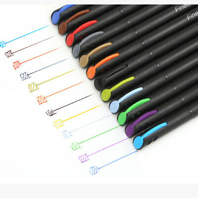 12pcs color pen set fine line drawing pen porous fine point markers ETE