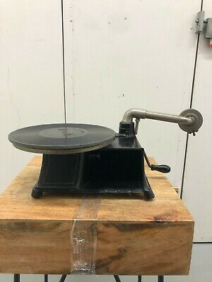 Vanophone Cast Iron Tabletop Phonograph Record Player - Antique Vintage