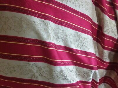Lovely Antique Satin Demask Curtains Set Of 4