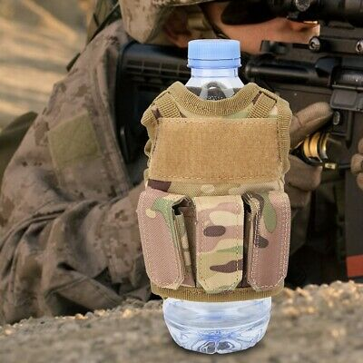 Military Tactic Mini Vest Soda Beer Bottle Cooler Can Cover Miniature Holder