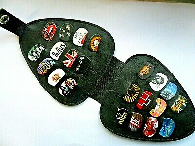 Stunning Set of 22  Different ROCK // BANDS  Guitar  Picks With Large Wallet