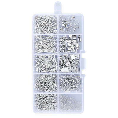 1Set Large Jewellery Making Kit Plier Silver Beads Wire Starter Tool Home DIY AU