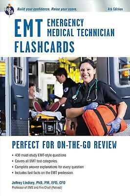 EMT Flashcard Book, 4th Ed. by Jeffrey Lindsey (English) Paperback Book Free Shi