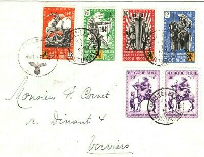 BELGIUM Cover WW2 Flemish Legion Germany Feldpost 1941 OOST FRONT CHARITY MA142
