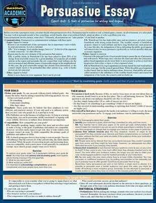 Persuasive Essay: A Quickstudy Laminated Reference Guide by Kathryn Jacobs (Engl