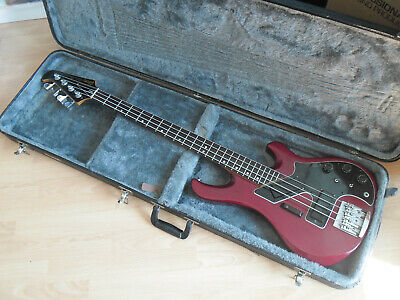 """Gibson Victory """"Artist"""" Cherry 1981 Made In Usa Basso Attivo 4 Corde Vintage."""