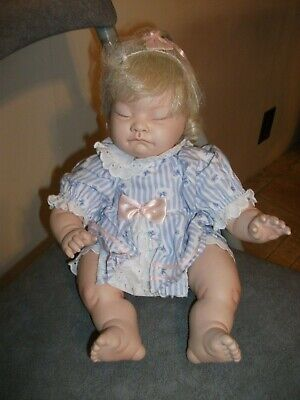 Rare 1996 Hamilton Collection, Josie Porcelain Bisque Doll By Val Shelton 13Inch