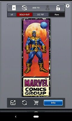 Topps MARVEL COLLECT! - Corner Boxes - THANOS #'d/797