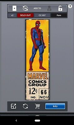 Topps MARVEL COLLECT! - Corner Boxes - SPIDERMAN #'d/857
