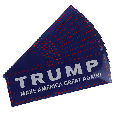 10Pcs/set Donald Trump for President Make America Great Again Bumper StickerBX