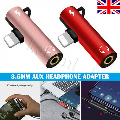 2 In 1 Lightning to 3.5mm Headphone Jack Adapter For iPhone X XS Max XR 7 8 Plus