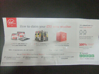 £50 voucher for wine, 12 bottles delivered no charge next day in the UK