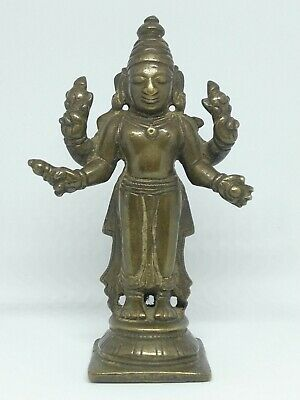 17/18th century Antique Indian Hindu god Vishnu bronze statue #97185