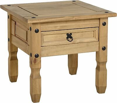 Seconique Corona 1 Drawer Lamp Table, DWP, One Size