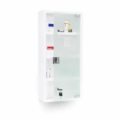 Relaxdays EMERGENCY XXL Medicine Cabinet, 57 x 27 x 12 cm, With 4 Shelves And 2