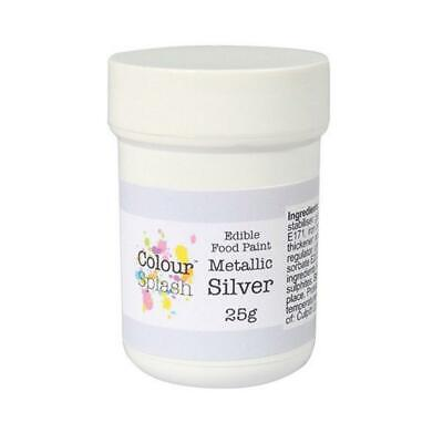 Metallic Silver Edible Food Paint Cake Decorating Icing Food Colouring