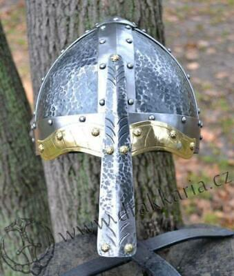 Norman VIKING Helmet Medieval Historical Collectibles Greek Silver Finish