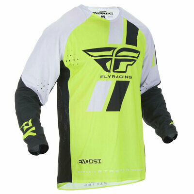 Fly Racing Evolution DST Motorbike Motorcycle Jersey Hi-Viz / Black / White