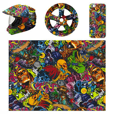 Colorful Skull PVA Water Transfer Film Hydrographic Hydro Dipping Dip Printing