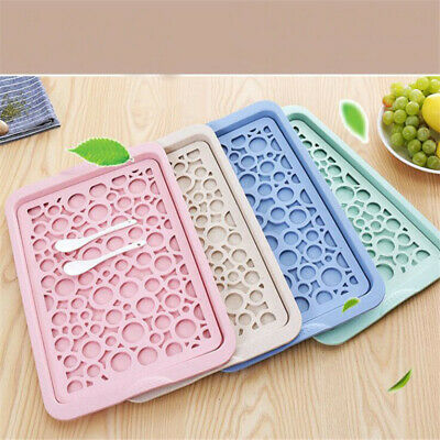 Kitchen Draining Board Dish Drainer Plate Drainage Cutlery Rack Cup Holder JJ