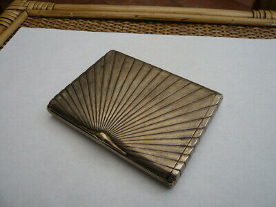 VINTAGE Art Deco 1920,S  NORWAY SOLID 830 SILVER CIGARETTE OR CARD CASE 830S S&S