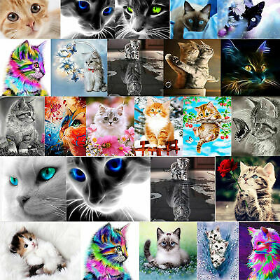 5D Katze Diamond Painting Diamant DIY Kreuzstich Stickerei Malerei Stickpackung