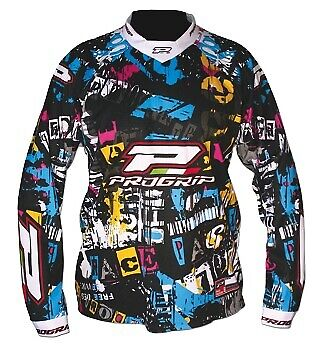 Progrip Youth Motocross-Off Road Shirt - Large -Multi Colour