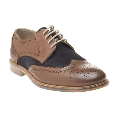 New Mens Lotus Tan Edward Leather Shoes Brogue Lace Up