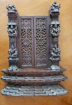 """Antique Thailand completely wood carved shelve 21 1/2""""  x 16"""""""