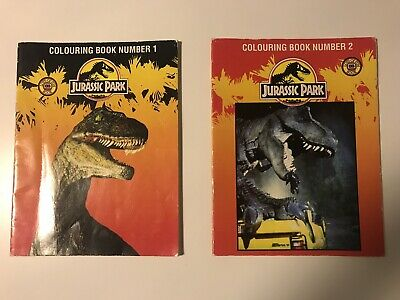 Jurassic Park Colouring Book 1 And 2 USED