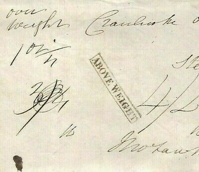 GB DISALLOWED FREE Cover 1833 GPO Date Error *ABOVE WEIGHT* Rare CBP £350 MS1780