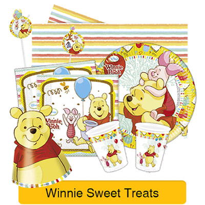 Disney WINNIE THE POOH Birthday Party Ranges - Tableware Supplies Decorations